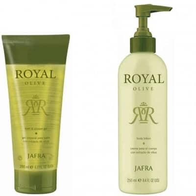 Jafra Royal Olive Set mit Duschgel und Körperlotion