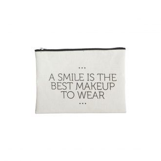 Make-Up-Tasche, Smile | 31x15cm