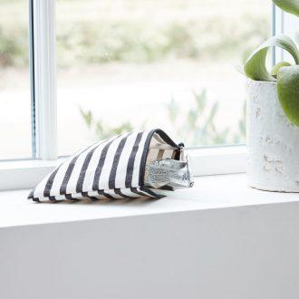 Make-up Tasche, Stripes | 21×15 cm